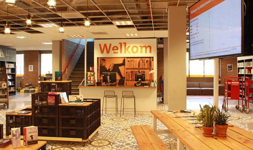 Inrichting Bibliotheek Delfshaven; een dynamische bibliotheek met een rauw Rotterdams randje