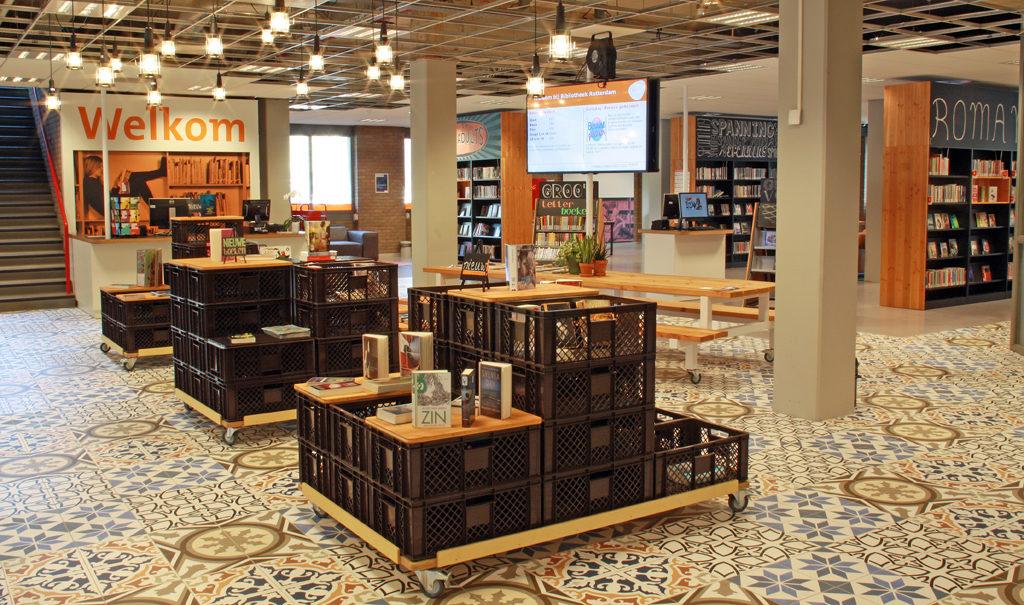 inrichting bibliotheek delfshaven