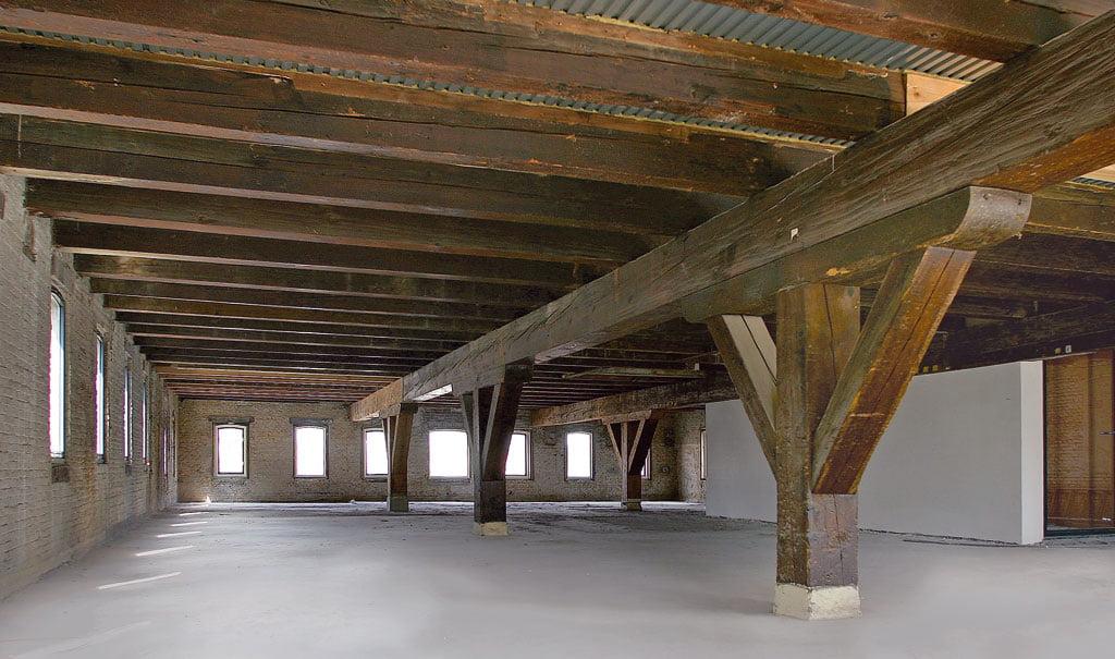 Verbouwing historisch pakhuis in Schiedam