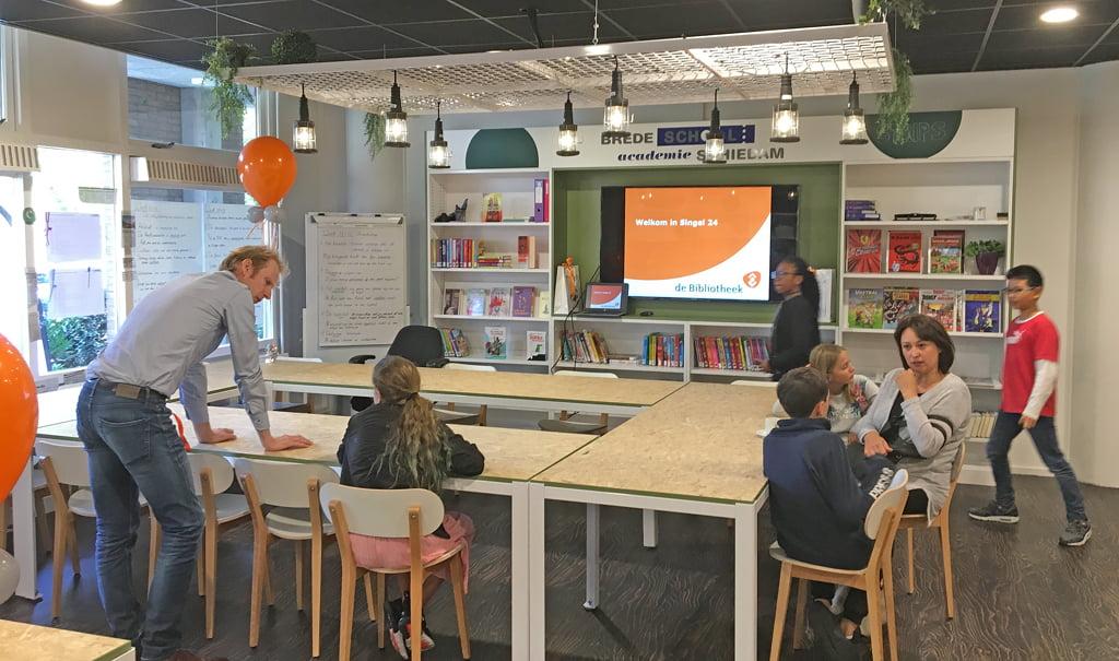 Een moderne leeromgeving; Brede School Academie en de Bibliotheek Schiedam