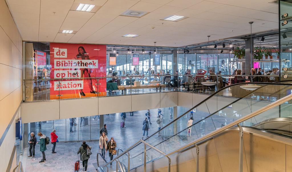 inrichting stationsbibliotheek Rotterdam