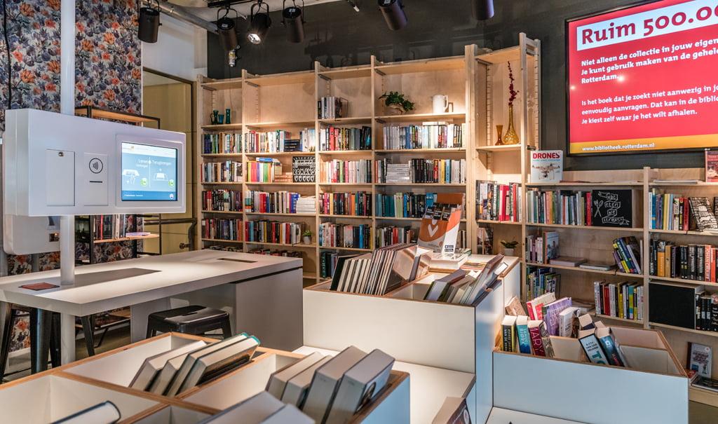 Inrichting Stationsbibliotheek, De Bibliotheek op het Station Rotterdam Centraal