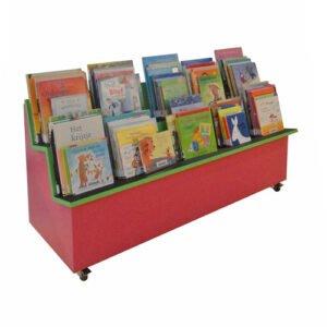 Prentenboekmeubel Wandkast 2-Traps