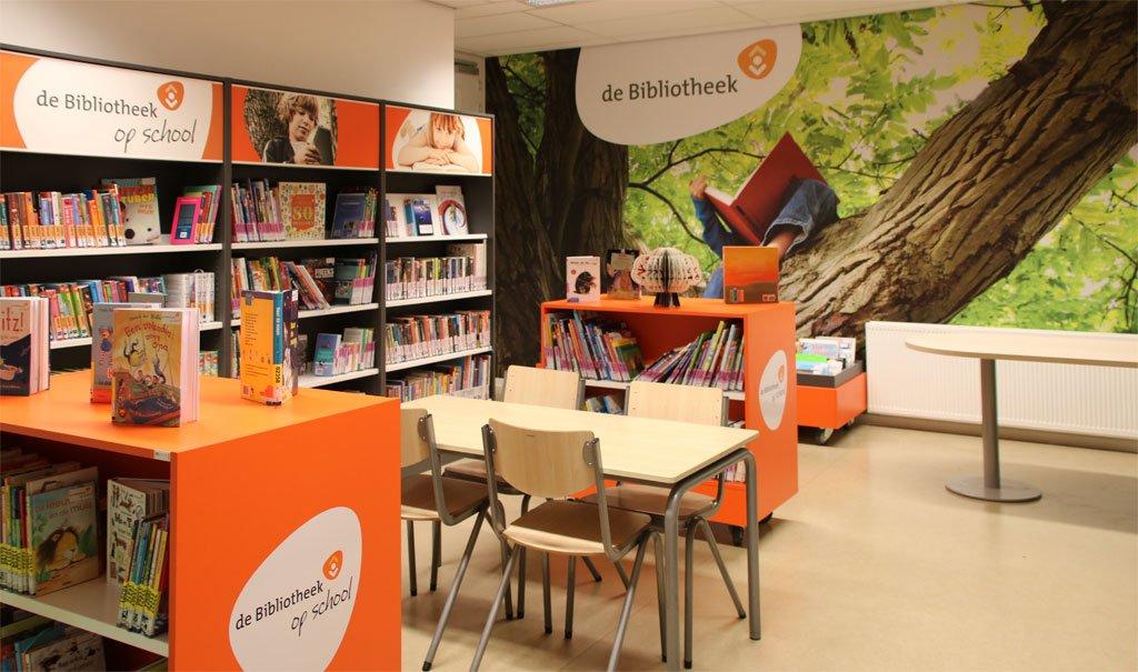 de Bibliotheek op School Hoogvliet; Christelijke basisschool De Zalmplaat