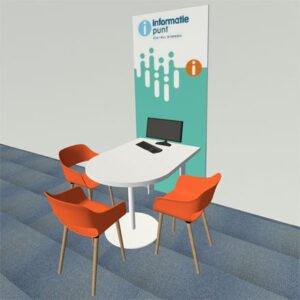 Infopunt Digitale Overheid tafel model-wandopstelling