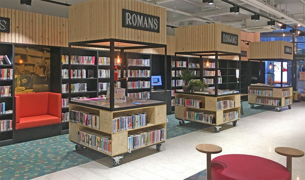 Inrichting Bibliotheek Nesselande; een lokaal georiënteerde Rotterdamse bibliotheek met een eigen look